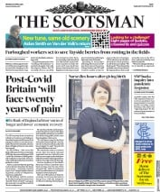 The Scotsman (UK) Newspaper Front Page for 27 April 2020