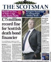 The Scotsman (UK) Newspaper Front Page for 27 May 2015