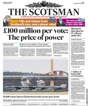 The Scotsman (UK) Newspaper Front Page for 27 June 2017
