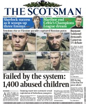 The Scotsman (UK) Newspaper Front Page for 27 August 2014