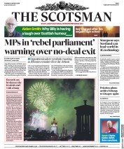 The Scotsman (UK) Newspaper Front Page for 27 August 2019