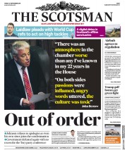 The Scotsman (UK) Newspaper Front Page for 27 September 2019