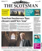 The Scotsman front page for 28 October 2020