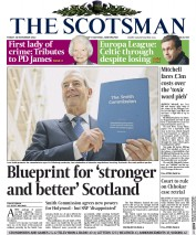 The Scotsman (UK) Newspaper Front Page for 28 November 2014