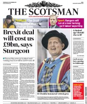 The Scotsman (UK) Newspaper Front Page for 28 November 2018
