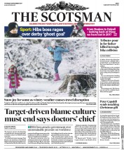 The Scotsman (UK) Newspaper Front Page for 28 December 2017