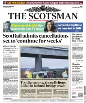 The Scotsman (UK) Newspaper Front Page for 28 December 2018