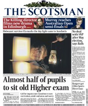 The Scotsman (UK) Newspaper Front Page for 28 January 2015