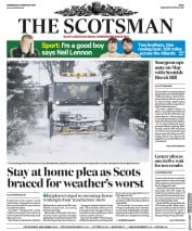 The Scotsman (UK) Newspaper Front Page for 28 February 2018
