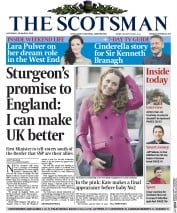 The Scotsman (UK) Newspaper Front Page for 28 March 2015