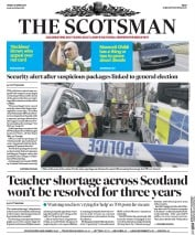 The Scotsman (UK) Newspaper Front Page for 28 April 2017