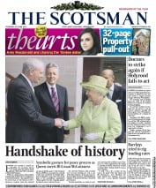 The Scotsman Newspaper Front Page (UK) for 28 June 2012