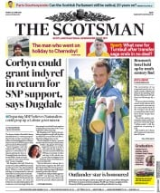 The Scotsman (UK) Newspaper Front Page for 28 June 2019