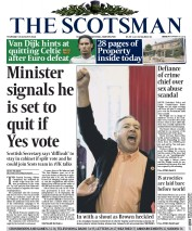 The Scotsman (UK) Newspaper Front Page for 28 August 2014