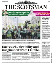 The Scotsman (UK) Newspaper Front Page for 28 August 2017