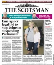The Scotsman (UK) Newspaper Front Page for 28 August 2019