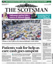 The Scotsman (UK) Newspaper Front Page for 29 October 2018