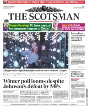 The Scotsman (UK) Newspaper Front Page for 29 October 2019
