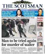 The Scotsman (UK) Newspaper Front Page for 29 November 2014