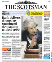 The Scotsman (UK) Newspaper Front Page for 29 November 2018