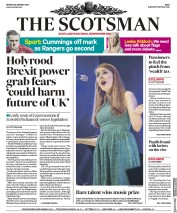 The Scotsman (UK) Newspaper Front Page for 29 January 2018
