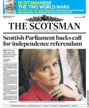 The Scotsman (UK) Newspaper Front Page for 29 March 2017