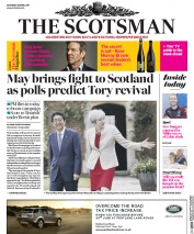 The Scotsman (UK) Newspaper Front Page for 29 April 2017