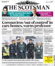 The Scotsman (UK) Newspaper Front Page for 29 April 2020