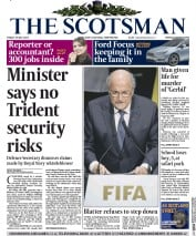 The Scotsman (UK) Newspaper Front Page for 29 May 2015