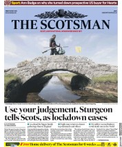 The Scotsman (UK) Newspaper Front Page for 29 May 2020