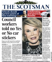 The Scotsman (UK) Newspaper Front Page for 29 August 2014