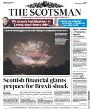 The Scotsman (UK) Newspaper Front Page for 29 August 2017