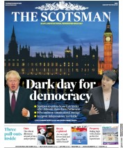 The Scotsman () Newspaper Front Page for 29 August 2019
