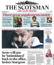 The Scotsman (UK) Newspaper Front Page for 29 August 2020