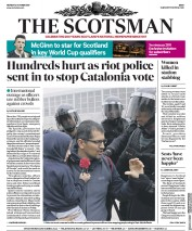 The Scotsman (UK) Newspaper Front Page for 2 October 2017