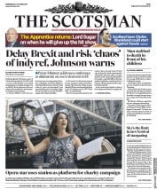 The Scotsman (UK) Newspaper Front Page for 2 October 2019