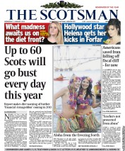 The Scotsman Newspaper Front Page (UK) for 2 January 2013