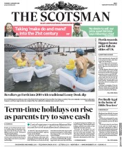 The Scotsman (UK) Newspaper Front Page for 2 January 2018