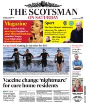 The Scotsman front page for 2 January 2021