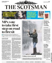 The Scotsman (UK) Newspaper Front Page for 2 February 2017