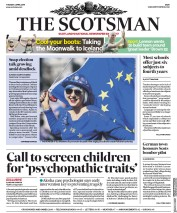 The Scotsman (UK) Newspaper Front Page for 2 April 2019