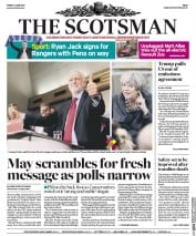 The Scotsman (UK) Newspaper Front Page for 2 June 2017