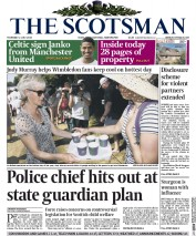 The Scotsman (UK) Newspaper Front Page for 2 July 2015