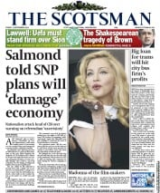 The Scotsman (UK) Newspaper Front Page for 2 September 2011