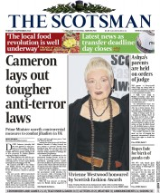The Scotsman (UK) Newspaper Front Page for 2 September 2014