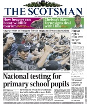 The Scotsman (UK) Newspaper Front Page for 2 September 2015