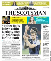 The Scotsman (UK) Newspaper Front Page for 2 September 2017
