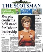 The Scotsman (UK) Newspaper Front Page for 30 October 2014