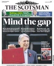 The Scotsman (UK) Newspaper Front Page for 30 October 2018