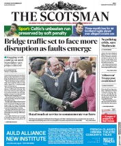 The Scotsman (UK) Newspaper Front Page for 30 November 2017